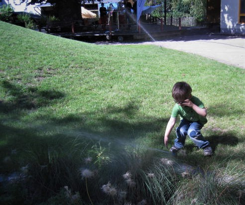 Theo mit Wasser